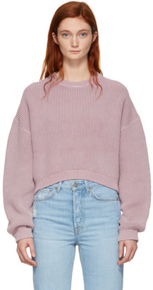 Alexander Wang Pink Cropped Utility Sweater
