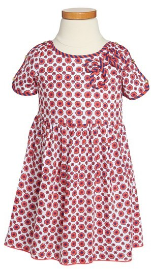 Little Marc Jacobs Floral Print Woven Dress (Toddler Girls)
