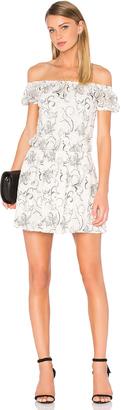 Alice + Olivia Janell Lace Off Shoulder Dress $367 thestylecure.com