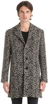 Leopard Wool Felt Coat