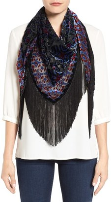 Collection XIIX Ikat Print Fringe Scarf $48 thestylecure.com