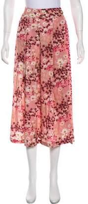 Mother of Pearl Printed Midi Skirt