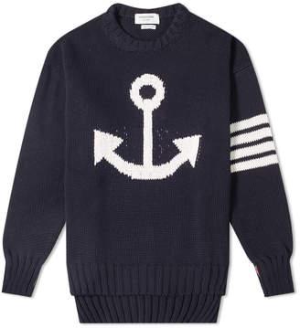 Thom Browne Anchor Intarsia Crew Knit