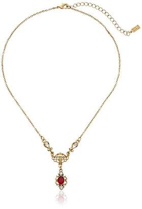 Downton Abbey Jeweled Heirlooms Gold-Tone Red and Crystal Drop Necklace