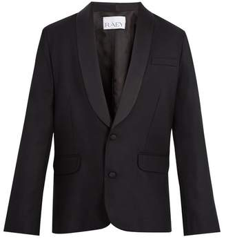 Raey Satin Lapel Wool Tuxedo Jacket - Mens - Black