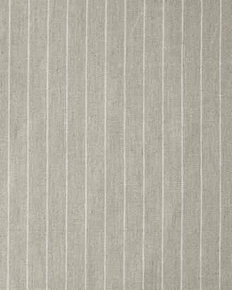 Serena & Lily Pencil Stripe Linen Fabric - Light Bark