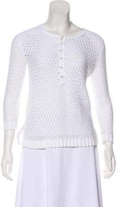 TSE Open Knit Long Sleeve Top