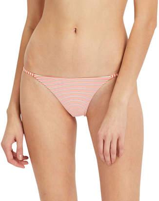 Onia Rochelle Striped Cheeky Bikini Swim Bottom