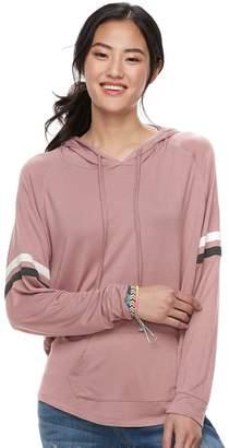 Dockers Juniors' Pink Republic Varsity Striped Hoodie