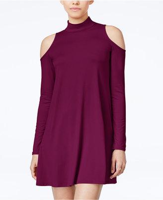 Planet Gold Juniors' Cold-Shoulder Shift Dress $39 thestylecure.com