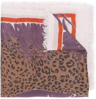 Hemisphere Pungle printed scarf