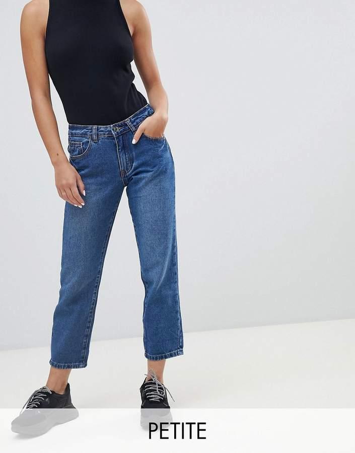 Petite Wrath Turn Up Straight Leg Jeans