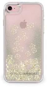 Rebecca Minkoff Gold Studs Glitterfall iPhone 7 Case