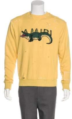 Amiri 2018 Embroidered Distressed Sweatshirt