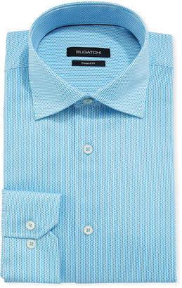 Bugatchi Shaped Fit Micro-Diamond Dress Shirt