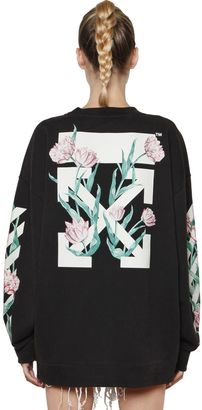 Arrows & Tulips Washed Cotton Sweatshirt $573 thestylecure.com