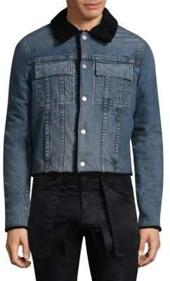 Helmut Lang Faux Shearling Denim Jacket