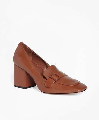 Brooks Brothers Leather Loafer Pumps