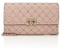 Valentino Women's Rockstud Spike Leather Shoulder Bag - Poudre