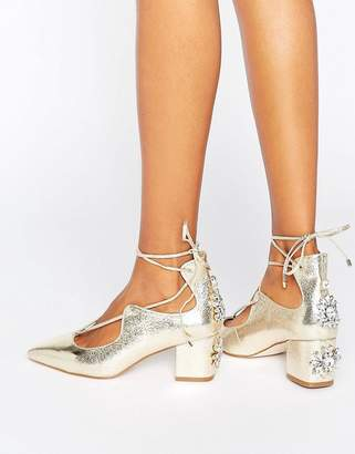 Asos Design SALOON Bridal Embellished Heels