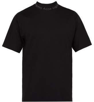 Acne Studios Navid Logo Neck T Shirt - Mens - Black
