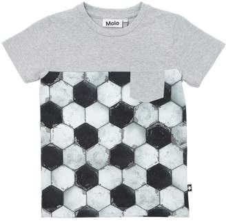 Molo Football Print Cotton Jersey T-Shirt