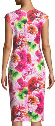 Cynthia Steffe Cece By Tropic-Floral Sleeveless Sheath Dress