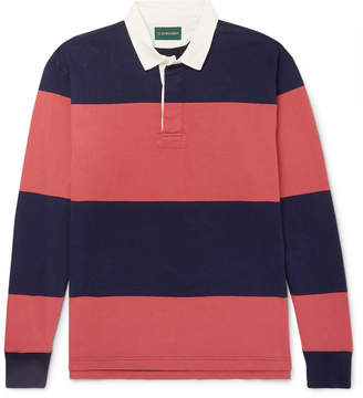 J.Crew 1984 Twill-Trimmed Striped Cotton-Jersey Polo Shirt