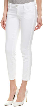 J Brand Braided Blanc Low-Rise Crop Skinny Leg