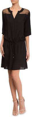 Lise Charmel Town Beach Elbow-Sleeve Coverup Dress with Mesh