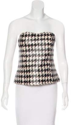 Christian Dior Wool Bustier Top