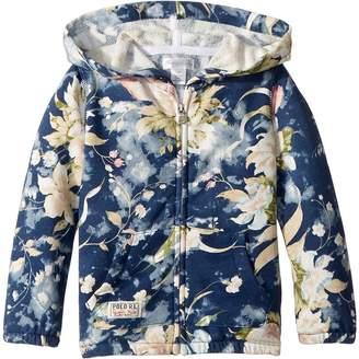 Ralph Lauren Floral French Terry Hoodie Girl's Sweatshirt