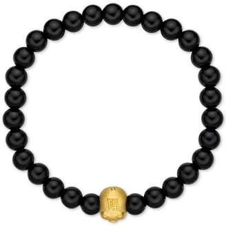 Chow Tai Fook Chalcedony Bead Bracelet With 24k Gold Piggy Charm