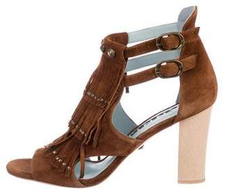 Dannijo Quin Fringe Sandals