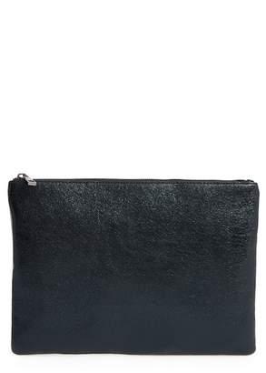 BP Faux Leather Large Zip Pouch