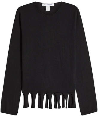 Comme des Garcons Wool Pullover with Cut-Out Hem