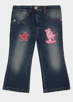 Versace Trésors De La Mer Patch Jeans