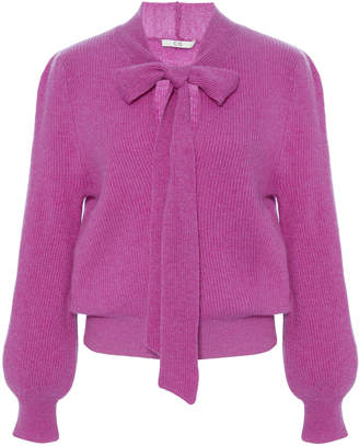 Co Pussy Bow Cashmere Knit Sweater