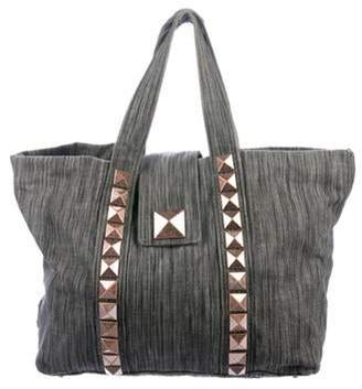 Marc Jacobs Studded Canvas Tote Grey Studded Canvas Tote