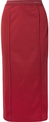 Prada Tech-jersey Midi Skirt - Red