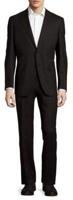 CanaliModern-Fit Solid Wool Suit