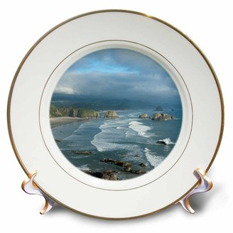 3dRose 3drose the oregon coast and cannon beach Decor from ecola state park, oregon., porcelain plate, 8-inch