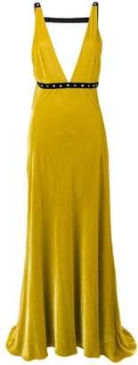 Philosophy di Lorenzo Serafini velvet evening dress