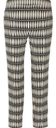 Lanvin Cropped Printed Crepe Straight-Leg Pants