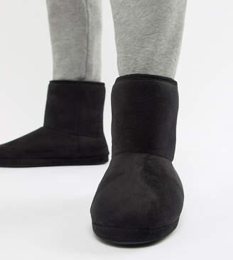 Asos DESIGN slipper boots in black