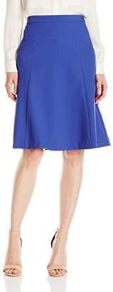 Lark & Ro Women's Crepe Flare Skirt