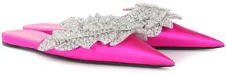 Balenciaga Embellished satin slippers