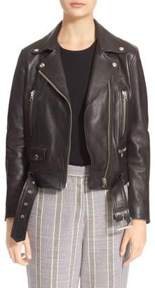 Women's Acne Studios Lambskin Mock Moto Jacket
