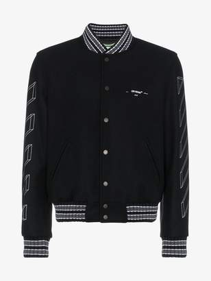 Off-White Diagonal 3D Line bomber jacket