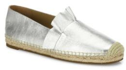 Michael Kors Collection Laticia Ruffled Metallic Leather Espadrilles $250 thestylecure.com
